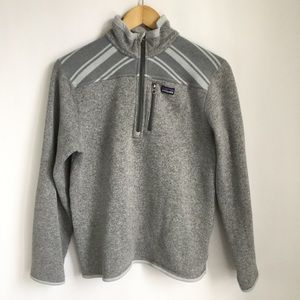 Patagonia Boys Gray Sweater Pullover Mock Neck